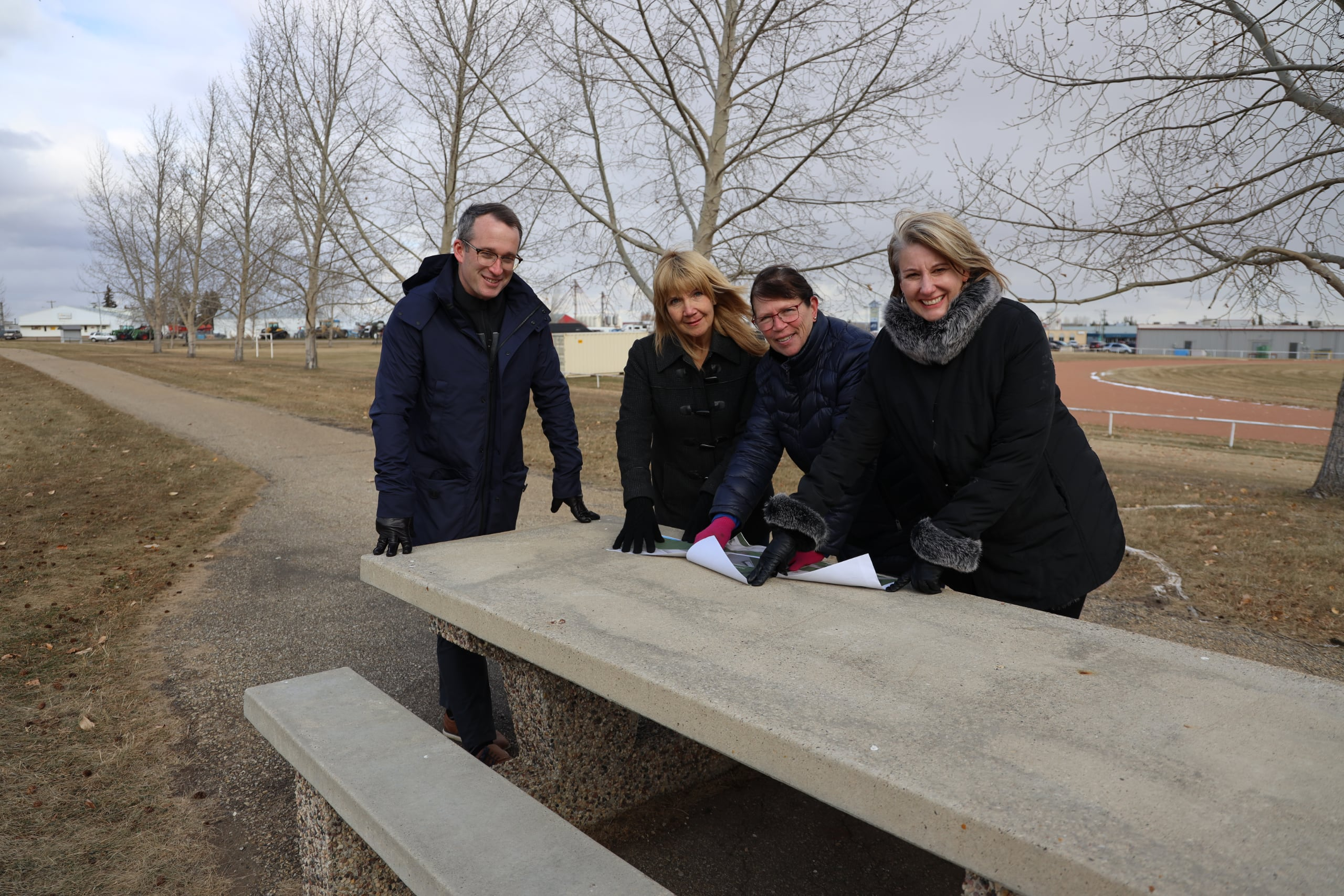 Part of the Vegreville Rotary Skatepark will include benches and walking paths.